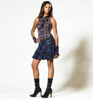 Rugby Archer Ruffled Wrap Skirt