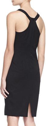 Black Halo Ajai Stretch Gabardine Dress