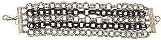 Bee Charming Two Tone Silver Chain Link Bracelet
