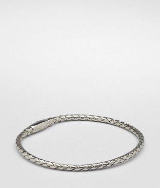 Bottega Veneta Antique silver intrecciato bracelet