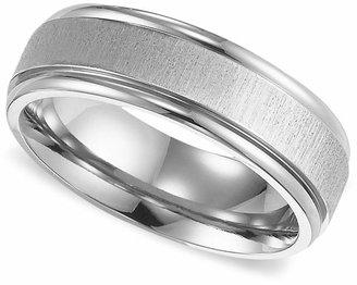 Triton Men's Titanium Ring, Comfort Fit Wedding Band $180 thestylecure.com