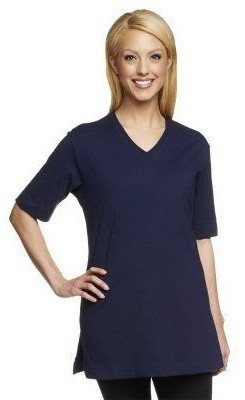 Denim & Co. Essentials Short Sleeve Oversized V-neck T-shirt