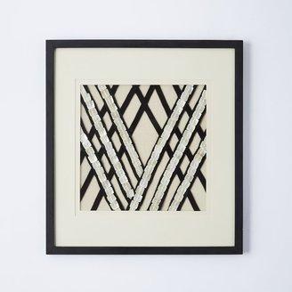 west elm Linen + Shell Wall Art - Double Diamond