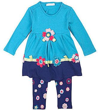 Bonnie Baby 3-24 Months Flower Applique Top & Leggings Set