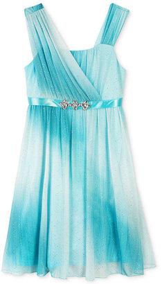Amy Byer Girls' Embellished Ombre Dress