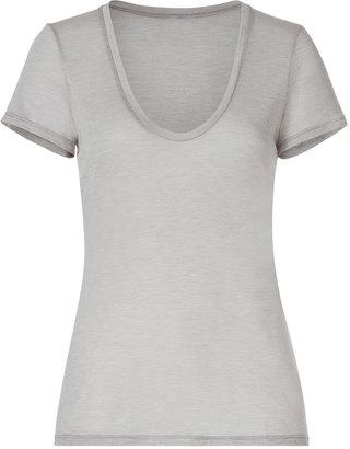 L'Agence LAgence Oatmeal S/S T-Shirt