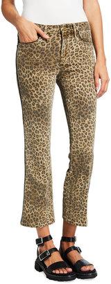 Frame Le Crop Mini Boot Leopard-Print Jeans