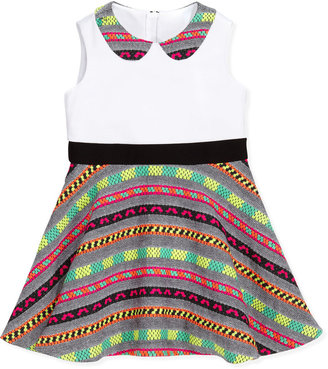Milly Minis Neon-Striped Combo Dress, Multi, Sizes 2-7