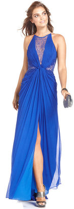 BCBGMAXAZRIA Dress, Sleeveless Lace Gown