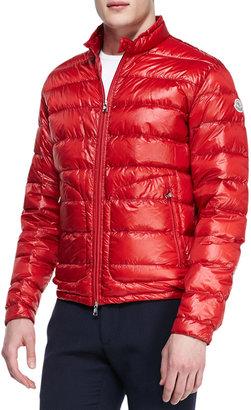 Moncler Acorus Lightweight Puffer Jacket, Red