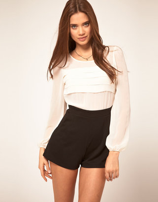 Lipsy Playsuit With Long Sleeve