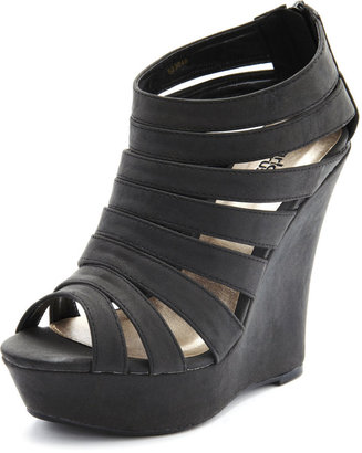 Charlotte Russe Strappy Caged Wedge Bootie