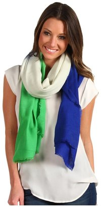 Juicy Couture Dip Dyed Ombre Oblong Scarf (Seaside) - Accessories