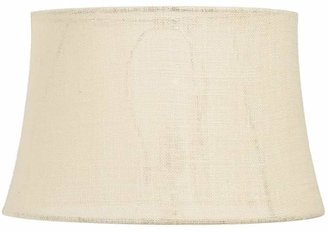 Pottery Barn Burlap Upholstered Tapered Lamp Shade, Rolled Edge