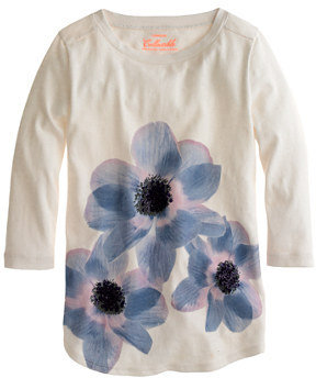 J.Crew Girls' floral sequin tee