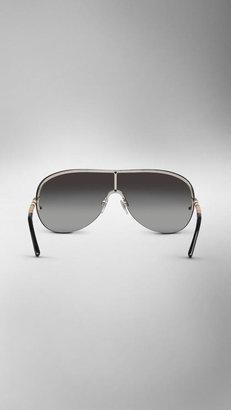 Burberry Check Detail Visor Sunglasses