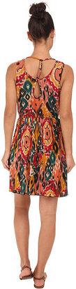 Angie Pleated Print Dress