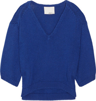 3.1 Phillip Lim Cropped knitted cotton sweater