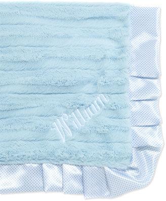 Swankie Blankie Swiss-Dot Receiving Blanket, Blue