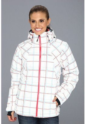Columbia Whirlibird Interchange Jacket (White Plaid Print/Red Hibiscus) Women's Coat