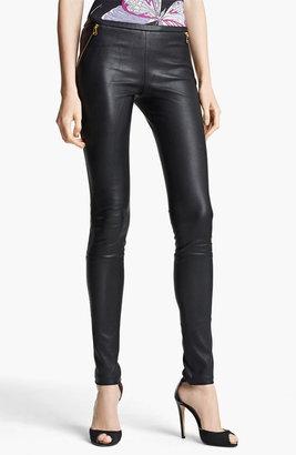 Emilio Pucci Lambskin Leather Leggings