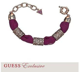 GUESS Fabric Alligator-Embossed Bracelet – Plum