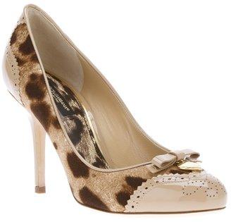 Dolce & Gabbana leopard print pump