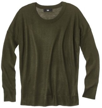Mossimo Womens High Low Longsleeve Crew Sweater - Assorted Colors