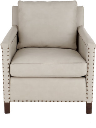 """Horchow Lee Industries """"Pratt"""" Leather Chair"""