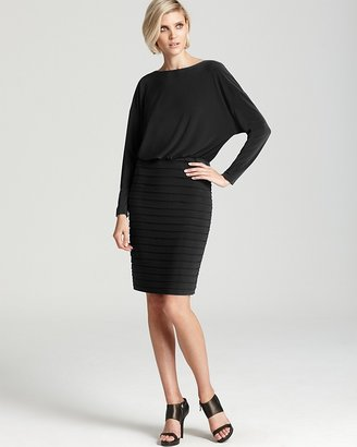 Adrianna Papell Dress - Blouson Textured Skirt