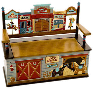 Levels of Discovery Wild West Kid's Storage Bench
