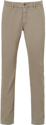 Closed Forest Beige Clifton Slim Cotton Pants