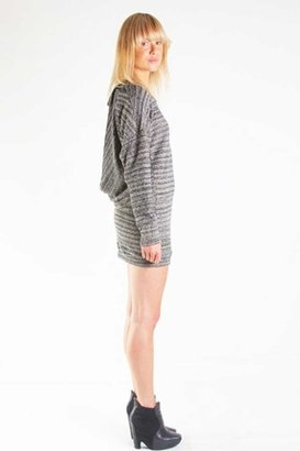 Nightcap Clothing Linen Cowl Tunic in Black/Natural $319 thestylecure.com