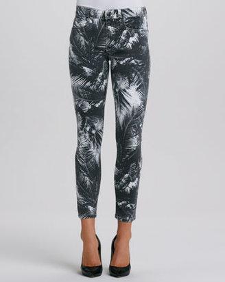 Joe's Jeans Palm-Print Highwater Jeans