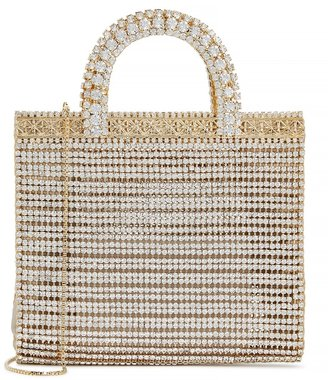 Rosantica Teodora Crystal-embellished Top Handle Bag