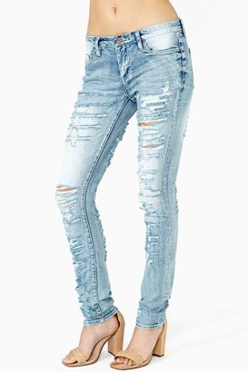 Nasty Gal Bandana Ripped Jeans