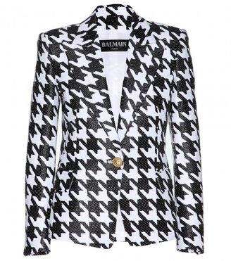 Balmain Cotton-blend jacquard blazer