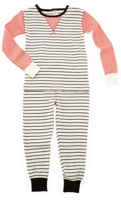 Petit Lem Two-Piece Striped Pajamas Set