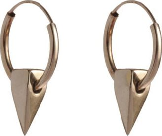 Wendy Nichol Gold Small Tall Pyramid Hoop Earrings