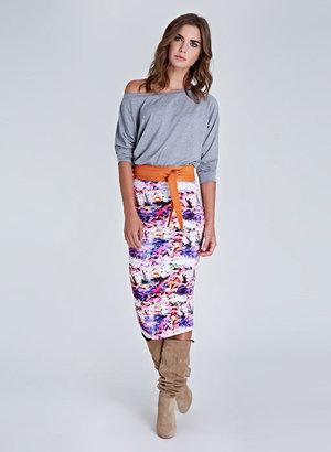 Isabella Oliver Amber Print Pencil Skirt