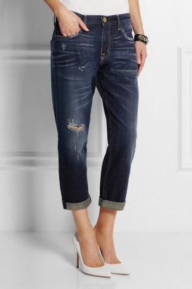 Current/Elliott The Boyfriend cropped mid-rise jeans