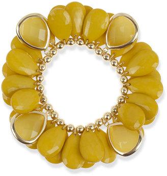 Macy's Haskell Bracelet, Gold Tone Chartreuse Teardrop Shaky Bracelet