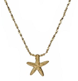 Catherine Weitzman Tiny Gold Starfish Necklace
