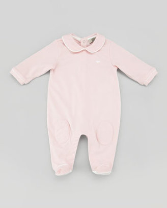 Armani Junior Playsuit with Interchangeable Bibs, Pink, 3-9 Months