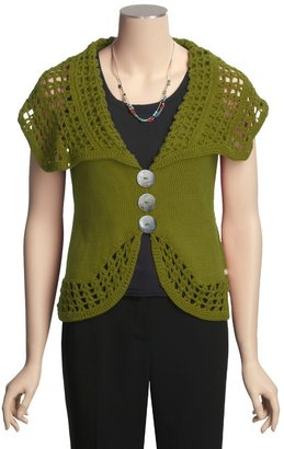 Pure Handknit Single-Knit Vest (For Women)