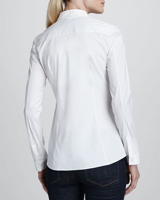 Lafayette 148 New York Laurie Knit-Front Blouse