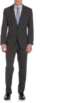 HUGO BOSS Micro Houndstooth The Grand Central Suit, Dark Grey