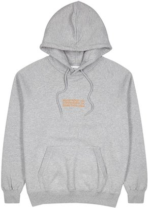 Wood Wood Fred Grey Logo Hooded Cotton Sweatshirt
