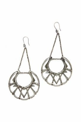 Bing Bang Iroquois Moon Chandelier Earrings in Silver