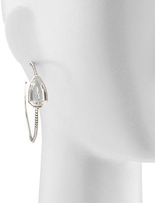 Stephen Dweck Cathedral Large Silver Hoop Earrings, Rock Crystal